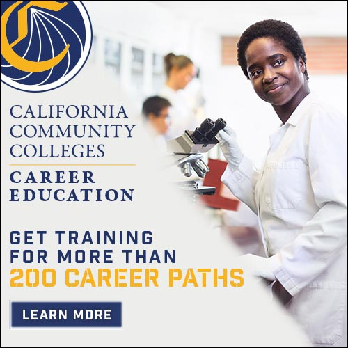 CTE 500 x 500 STATIC banner, medical student working in lab